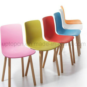 Newstyle Restaurant Living Room Plastic Seat Wooden Leg Chair (SP-UC007) pictures & photos