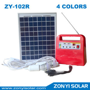 Solar DC Light System with 4 Colors Zy-102r pictures & photos