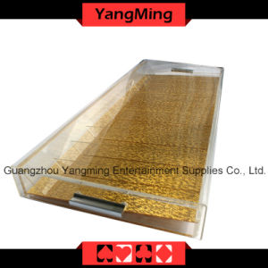 High-Grade Acrylic Handle Chip Tray with Lock (YM-CT09) pictures & photos