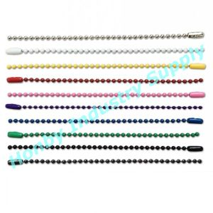 2.4mm Color Steel Ball Chain Key Chain with Connectors pictures & photos