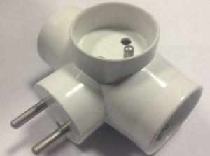 European Socket Adapter Adaptor ABS Plug (RJ-3133) pictures & photos