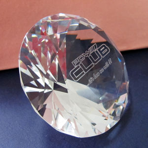 "80mm 3"" Crystal Diamond Paperweight with Logo Sandblasting Engrave pictures & photos"