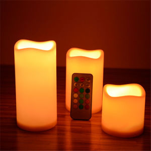Classical Flameless Candles with Timer and Remote Control pictures & photos