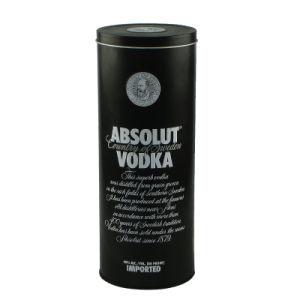 Custom Round Metal Wine Vodka Tin Box pictures & photos