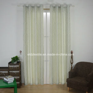 Ivory Color Newest Linen Touching Jacquard Curtain Fabric pictures & photos