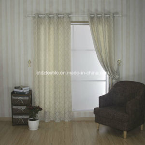 Top Sell 100% Polyester Linen Touching Window Curtain pictures & photos