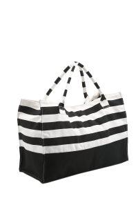 Stripe Canvas Fashion Tote Bag