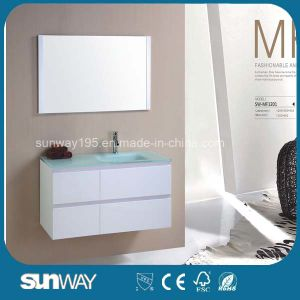 Hot Sale MDF Bathroom Furniture with Glass Sink (SW-MF1201) pictures & photos