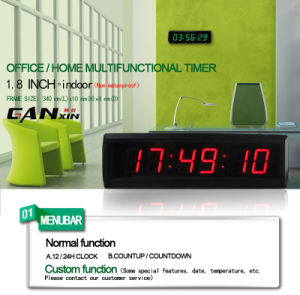 [Ganxin] Small Size High Quality LED Time Alarm Clock