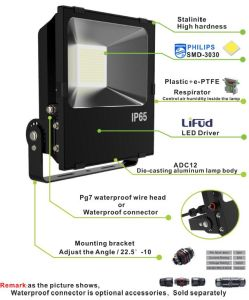 LED Floodlight 150W Philips SMD Meanwell Driver