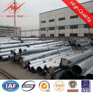 Bitumen Galvanized Steel Tubular Pole pictures & photos
