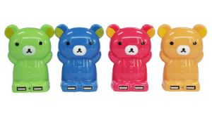 Cute Cartoon Bear Dual USB Mobile Power Bank Charger (PB-YD21) pictures & photos