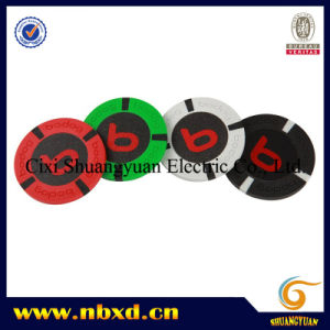 9.5g 4-Stripe Pure Clay Sticker Poker Chip (SY-C18) pictures & photos
