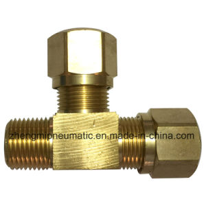 971 Male Run Tee, Brass Pipe Fitting for Nylon Tube (971-4-2) pictures & photos