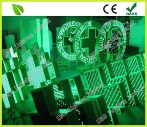 LED Green Color Pharmacy Cross Sign