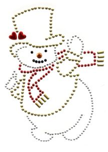 Heat Transfer Crystal Motif Paper Snowman Design Hotfix Motif pictures & photos