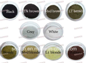 Micro Hair Fiber Extensions Hair Growth Fiber Empty Hair Fiber Bottle 25g pictures & photos