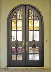 Exterior Double French Entry Hand-Froged Iron Doors (UID-D117) pictures & photos