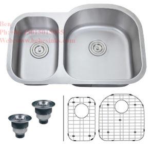 Stainless Steel Undermount Double Bowl Kitchen Sink, Stainless Steel Sink, Sink, Handmade Sink pictures & photos