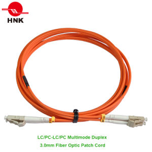 3.0mm LC/PC-LC/PC Duplex Multimode 62.5 Om1 Fiber Optic Patch Cord pictures & photos