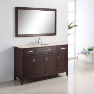 60 Inch Solf Close Solid Wood Bathroom Cabinet pictures & photos