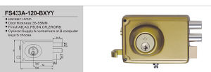 Security High Quality Door Rim Lock 433A pictures & photos