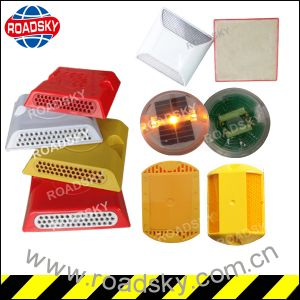Single Side Bright White Reflector Plastic Road Marking Road Stud pictures & photos