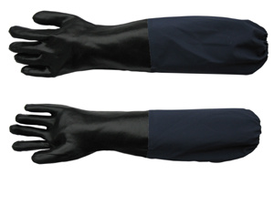 Long Sleeve Aquatic PVC Coated Work Glove pictures & photos