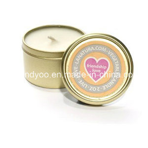 Scented Soy Decorative Tin Candle