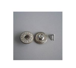 Metal Silver Plated Button, Laser Jeans Button (GZHY-KA-100) pictures & photos