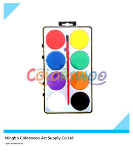 8 Color 4.5cm Classic Water Color Cake with Brush for Painting and Drawing pictures & photos