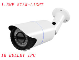 Star-Light 1.3MP HD Infrared Bullet IP Camera, Adjustable Saturation, Brightness and Contrast Camera with 6mm-10mm Manual Varifocal Lens {Ipc-Eqb5413PE-IR3-Vf} pictures & photos