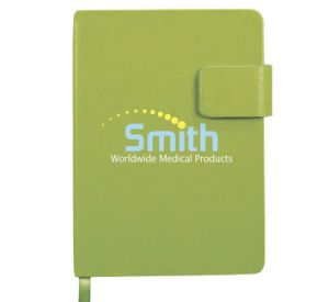 Green Leather Notebook with Screen Printing Logo pictures & photos