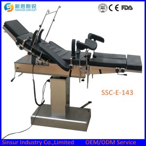 ISO/CE Approved Hospital Equipment Fluoroscopic Electric Surgery Operating Theater Table pictures & photos