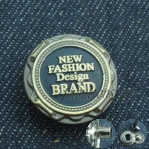 Custom Brand Name Alloy Metal Jeans Jacket Snaps Buttons pictures & photos
