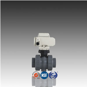 DIN ISO ASTM Standard Electric Actuated PVC True Union Ball Valve pictures & photos