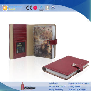 Leather School Exercize Notebook (6418R2) pictures & photos