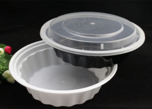 2500ml PP Plastic Microwavable Disposable Round Food Container with Lid/Cover pictures & photos