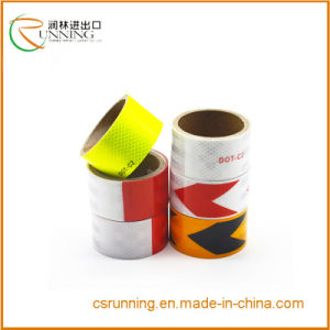Star Reflective Tape Adhesive Red White Shinning Stickers