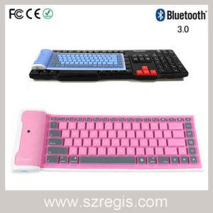 Universal Waterproof Foldable Silicone Soft Computer Wireless Bluetooth Keyboard pictures & photos