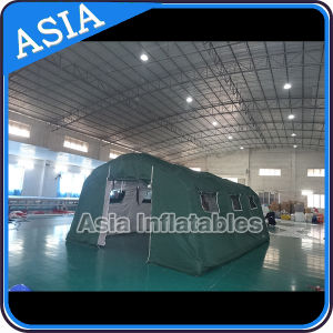 Camouflage Camping Tent Inflatable Military Tent, Army Winter Inflatable Tent with Green Sematic Color pictures & photos
