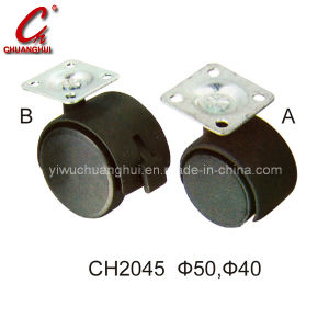 Black PU Caster Wheel with Aside Brake (CH2045) pictures & photos