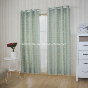 First Class Yarn Dyed Leaf Jacquard Window Curtain pictures & photos