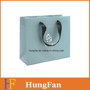Coated Paper Printed Promotional Gift Bag with Ribbon pictures & photos