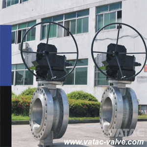 Cast Steel RF Flange Gear High Performance Butterfly Valve pictures & photos