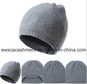 Men′s Solid Color Top Grade Pure Cashmere Hat A16mA1-001