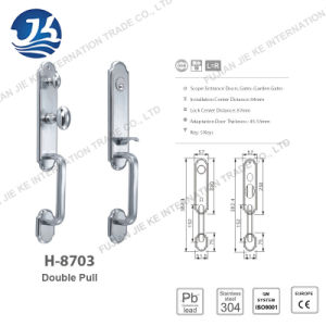 High Quality 304 Stainless Steel Door Lock (H-8703) pictures & photos