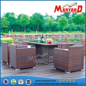 china hot sale home garden furniture and 8 seater rattan dining