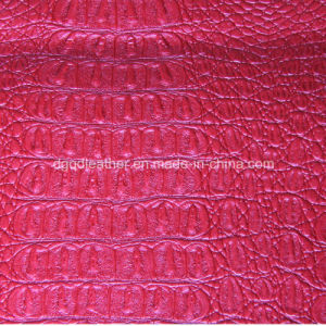 Top Grade Crocodile Design for Upholstery Leather (QDL-53199) pictures & photos