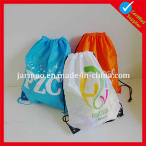 Custom Cheap Nylon Drawstring Bag Pouch pictures & photos